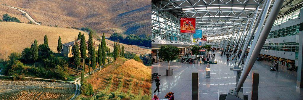 vakantie of vliegveld